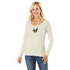 Joe Browns - Cream versatile long sleeved top