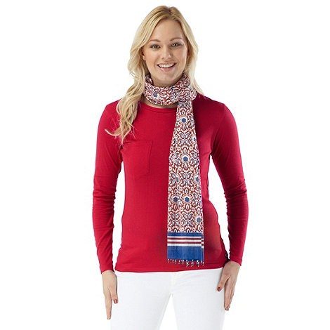 Joe Browns - Red nicely nautical top & scarf