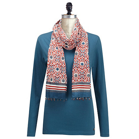 Joe Browns - Navy nicely nautical top & scarf
