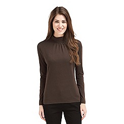 Joe Browns - Chocolate long sleeve turtle neck top