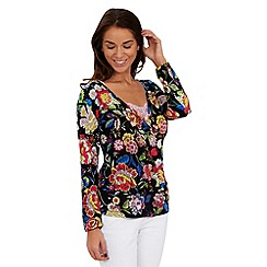 Joe Browns - Black remarkable wrap top