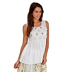 Joe Browns - Cream 'muy bonita' gypsy top