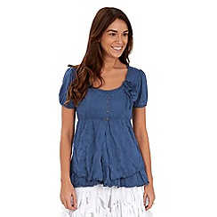 Joe Browns - Blue luscious layered jersey top