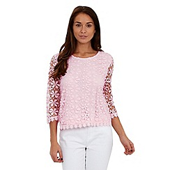 Joe Browns - Pink favourite lace top