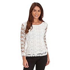 Joe Browns - Cream favourite lace top