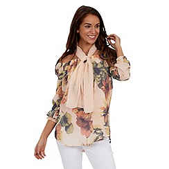 Joe Browns - Pink gypsy floral blouse and scarf