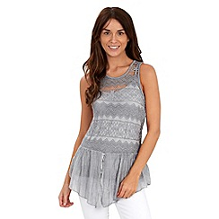 Joe Browns - Grey vintage traveller lace vest