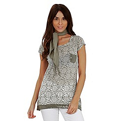 Joe Browns - Khaki mount roraima t-shirt with scarf