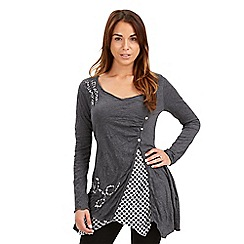 Joe Browns - Grey charismatic crinkle top