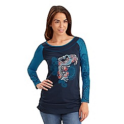 Joe Browns - Multi coloured peacock top