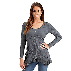 Joe Browns - Grey creative crinkle top