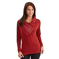 Joe Browns - Red sensual cowl neck top