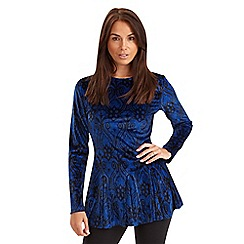 Joe Browns - Blue velour peplum top