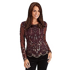 Joe Browns - Dark red beaded top