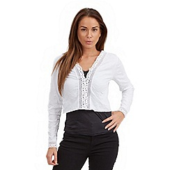 Joe Browns - White versatile crinkle shrug