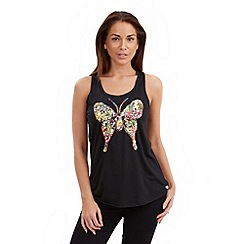 Joe Browns - Black beautiful butterfly top