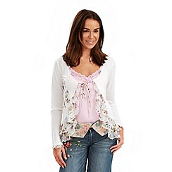 Joe Browns - White versatile vintage tie top