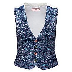 Joe Browns - Blue jacquard waistcoat