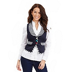 Joe Browns - Navy nicely nautical waistcoat