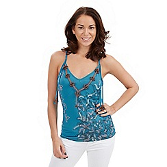 Joe Browns - Blue beaded cami top