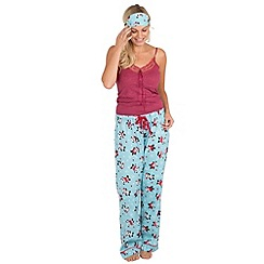 Joe Browns - Multi coloured panda lounge pants with free eye mask