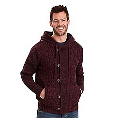 Joe Browns - Wine fur lined hood knit