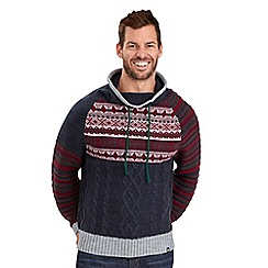 Joe Browns - Navy funky funnel knitwear