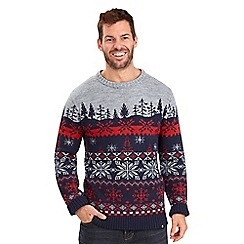 Joe Browns - Multi-coloured 'Hit the Slopes' Christmas jumper