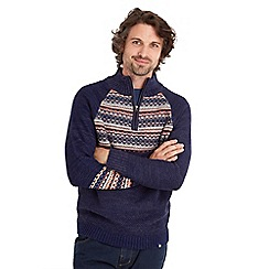 Joe Browns - Blue mix it up funnel knit