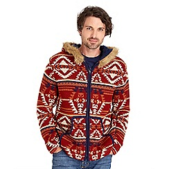 Joe Browns - Red Aztec fur hoody