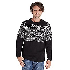 Joe Browns - Black cool & collected crew knit jumper