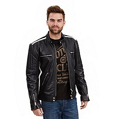 Joe Browns - Black lysebotn leather jacket
