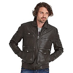 Joe Browns - Dark grey in the detail leather jacket