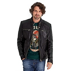 Joe Browns - Black on the road leather biker jacket