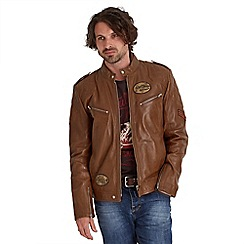 Joe Browns - Tan retro ride biker jacket
