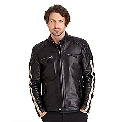 Joe Browns - Black ride of your life leather jacket