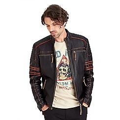 Joe Browns - Black road holder leather jacket