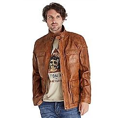 Joe Browns - Tan perfect pocket leather jacket