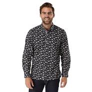Multi coloured button it print hint shirt