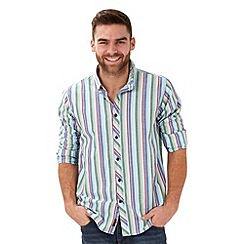 Joe Browns - Green summer stripe shirt