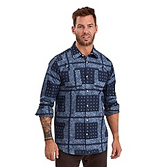 Joe Browns - Blue bandana print shirt
