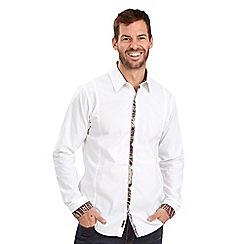 Joe Browns - White contrast placket shirt