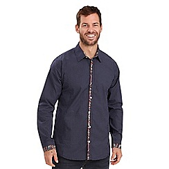 Joe Browns - Navy contrast placket shirt
