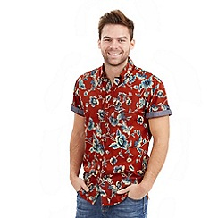 Joe Browns - Red biker floral shirt