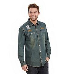 Joe Browns - Blue customised denim shirt