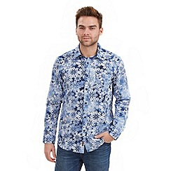 Joe Browns - Blue spray on flower shirt