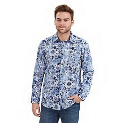 Joe Browns - Blue spray on flower shirt