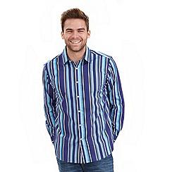 Joe Browns - Blue splendid stripe shirt
