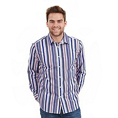 Joe Browns - Grey splendid stripe shirt