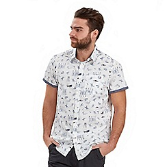 Joe Browns - White conversational surf shirt